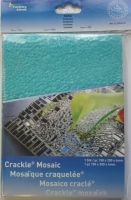Crackle Mosaik Platte 15x20cm türkis