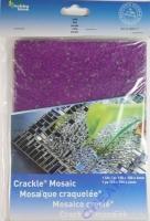 Crackle Mosaik Platte 15x20cm lila