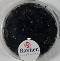 Pailletten, 6 mm gewölbt, schwarz