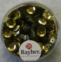 Pailletten, 6 mm gewölbt, gold
