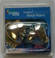 Metal Pearls 30mm Herzen 2 Stück (Restbestand)