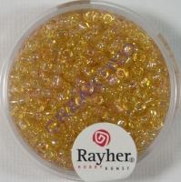 Rocailles 2,6mm ø transp. gelüstert gold