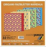 Faltblätter Origami Mandala 20x20cm (Restbestand)