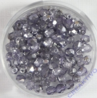 Glasschliffperle tanzanite 4mm halbbedampft