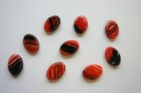 Rote Glasperle 1 Stück