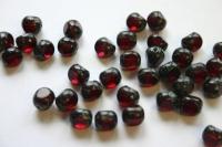 Schwarze Glasperle mit rotem Kern 1 Stück