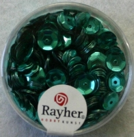 Pailletten, 6 mm gewölbt, jade