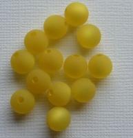 Polarisperle 8mm matt gelb
