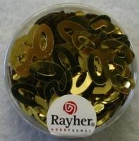 Pailletten Jubiläum 50 8 mm gold