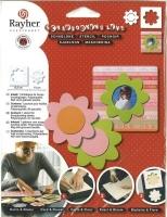 Rayher Schablone Karte + Blume