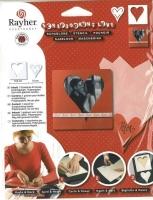 Rayher Schablone Karte + Herz