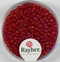 Rocailles 2,6mm ø transp. gelüstert rot