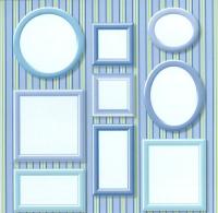 Rayher Scrapbooking Papier Frames hellblau