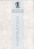 Transparentpapier White Line Glitter Blüten