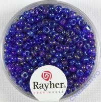 Rocailles 2,6mm ø transp. gelüstert dunkelblau