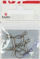 Rayher Ohrhaken aus Chirurgenstahl 20mm 6 Stück