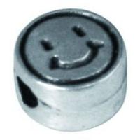 Rockstars Metall-Perle Smiley 7mm