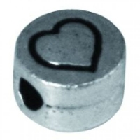 Rockstars Metall-Perle Herz 7mm