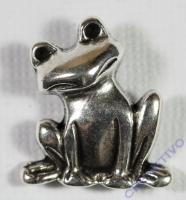 Pracht Metall-Anhänger Frosch 20x20mm