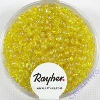 Rocailles 2,6mm ø transp. gelüstert gelb
