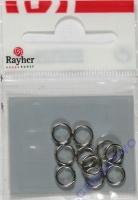Rayher Spaltringe 7mm 10 Stück silber