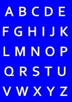 My Style Schablone DIN A4 Alphabet-Großbuchstaben (Restbestand)