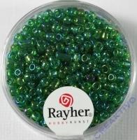 Rocailles 2,6mm ø transp. gelüstert grün