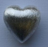 Herz aus Metall versilbert 2,4cm