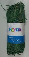 Naturbast, farbig 50g blattgrün