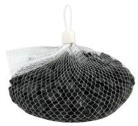Fluss-Kiesel Netz 1kg schwarz (Restbestand)
