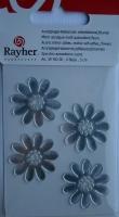 Acrylspiegel-Klebemotiv Blumen 3cm 4 Stück