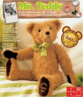 Teddy Mr. Teddy 37cm goldbraun gelockt
