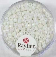 Rocailles 2,6mm ø opak gelüstert weiß