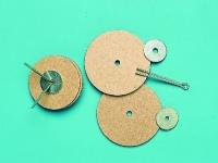 Gelenkscheiben aus Pappe mit Splint 55mm 5 Stück