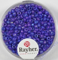 Rocailles 2,6mm ø opak gelüstert dunkelblau