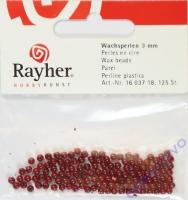 Rayher Wachsperlen 3mm rot