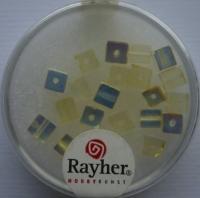 Rayher Glas-Schliffwürfel 4mm 20 St. lichtgelb