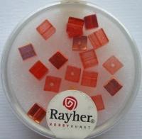 Rayher Glas-Schliffwürfel 4mm 20 St. capriorange