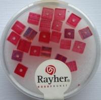 Rayher Glas-Schliffwürfel 4mm 20 St. rubin