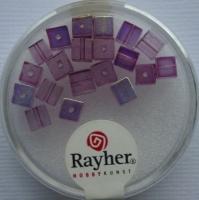 Rayher Glas-Schliffwürfel 4mm 20 St. amethyst