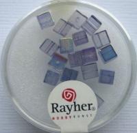 Rayher Glas-Schliffwürfel 4mm 20 St. saphir