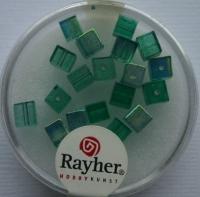 Rayher Glas-Schliffwürfel 4mm 20 St. smaragd
