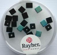 Rayher Glas-Schliffwürfel 4mm 20 St. obsidian