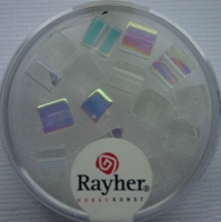 Rayher Glas-Schliffwürfel 6mm 15 St. bergkristall