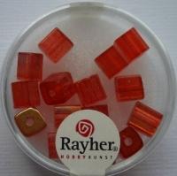 Rayher Glas-Schliffwürfel 6mm 15 St. capriorange