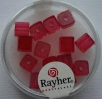 Rayher Glas-Schliffwürfel 6mm 15 St. rubin
