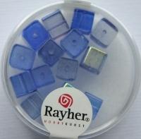Rayher Glas-Schliffwürfel 6mm 15 St. saphir