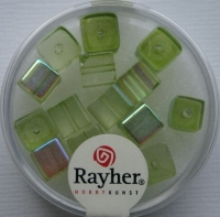 Rayher Glas-Schliffwürfel 6mm 15 St. olive