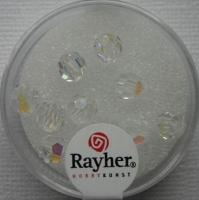 Rayher Rund-Schliffperlen 6mm 12 St. bergkristall