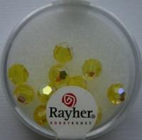 Rayher Rund-Schliffperlen 6mm 12 St. lichtgelb